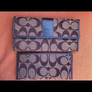 Coach wallet and check book cover